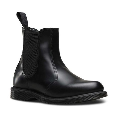 587755cf4af3f0 Women s Dr. Martens Flora Chelsea Boot - Black Polished Smooth Boots ...