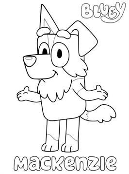 Bluey Coloring Pages Cartoon Clip Art Color Coloring Pages