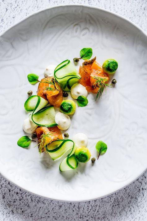 Gin, Kaffir Lime Cured Salmon, Cucumber & Avocado - Temptation For Food