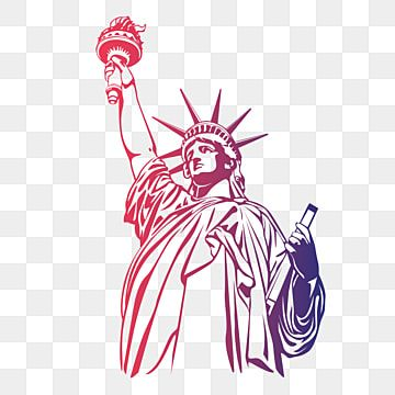 Estatua De La Libertad De Color Degradado Estatua De La Libertad Clipart Estatua De La Libertad Estados Unidos Png Y Vector Para Descargar Gratis Pngtree In 2021 Clip Art Vector