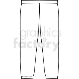 Black White Jogging Pants Vector Clipart Clip Art Vector Clipart Black And White Joggers