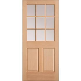 Masonite Half Lite Clear Glass Universal Reversible Wood Slab Entry Door Solid Core Common 32 In X 80 Half Glass Interior Door Slab Door Exterior Front Doors