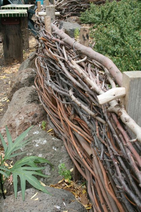 A woven twig fence like this would be PERFECT to keep our little one safe and contained!