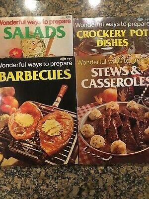 Vintage Wonderful Ways To Prepare Cookbook Lot Salads Barbecue And More Ebay Vintage Cooking Italian Cook Book Cooking