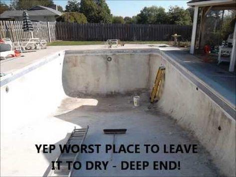 Complete Resurfacing And Retiling Of My Pool By Myself Pool Plaster Swimming Pool Renovation Pool Resurfacing