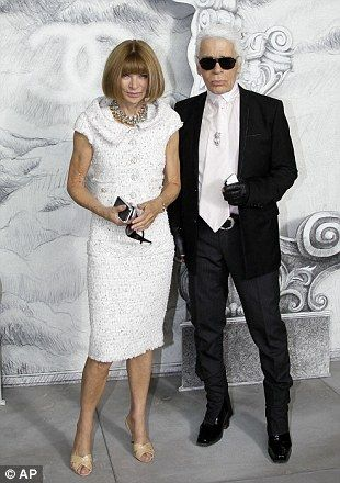 Chanel Fashion designer Karl Lagerfeld and English-born editor-in-chief of American Vogue, Anna Wintour~ Three Wishes