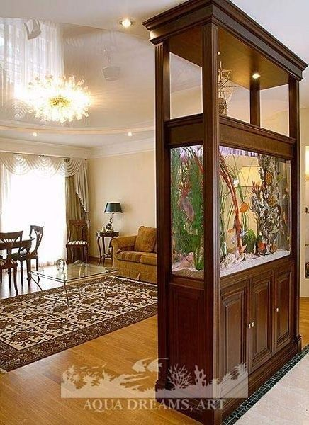 Unique Aquarium Partition Living Room25 Living Room Partition Design Living Room Partition Room Partition Designs