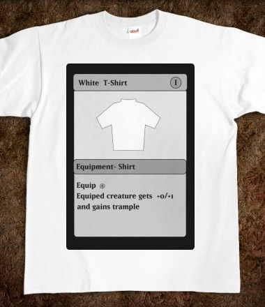 5d4c7cc4 Funny Magic Card White T Shirt   T Shirts