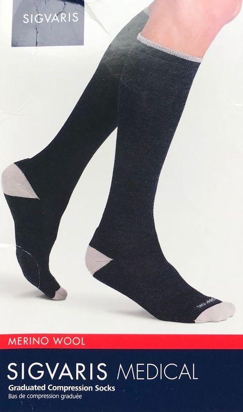 5294a978e5 SIGVARIS Medical 422C Merino Wool Socks 20-30mmHg Unisex | eBay