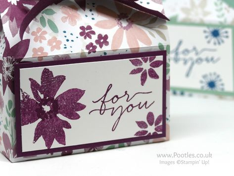 Soft Pretty Box using Stampin' Up! Blooms