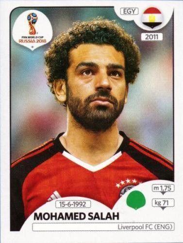 Mohamed Salah Egypt Fifa World Cup Russia 2018 Figurinhas Da