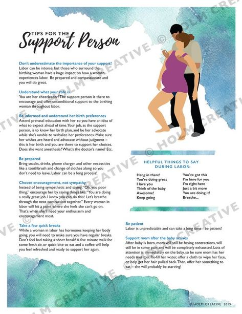 Tips for the Support Person during Childbirth, Birth Education Handout - Digital PDF - Resource for Childbirth Educators and Doulas Pregnancy Quotes, Pregnancy Tips, Labor Positions, Birth Partner, Doula Business, Handout, Baby Life Hacks, Birth Affirmations, Childbirth Education