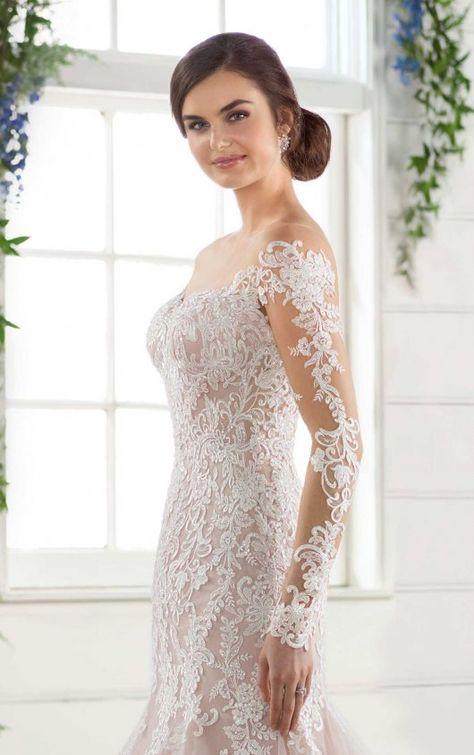 Modern Off-the-Shoulder Wedding Gown#gown #modern #offtheshoulder #wedding