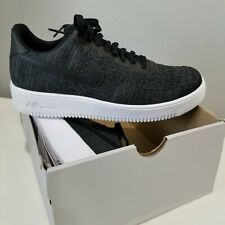 fecha He aprendido tensión  New Nike Air Force 1 Flyknit 2.0 Men's Black Anthracite White CI0051 001  Size 10 | New nike air force, Nike, Nike air force