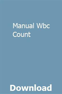 Manual Wbc Count Chilton Repair Manual Study Guide Manual