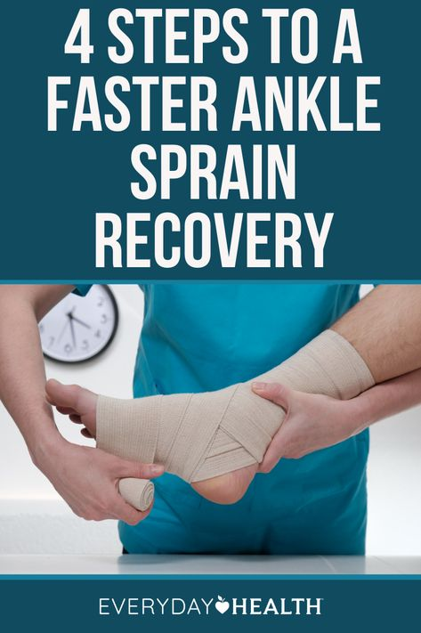 Knowing four steps for ankle sprain recovery can come in handy.