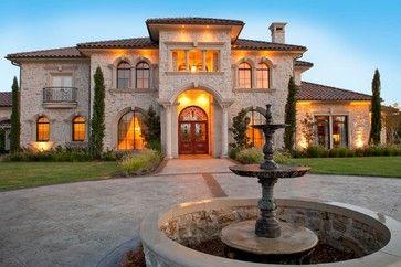 Venetian Style Homes venetian palazzo - mediterranean - exterior - dallas - atrium fine