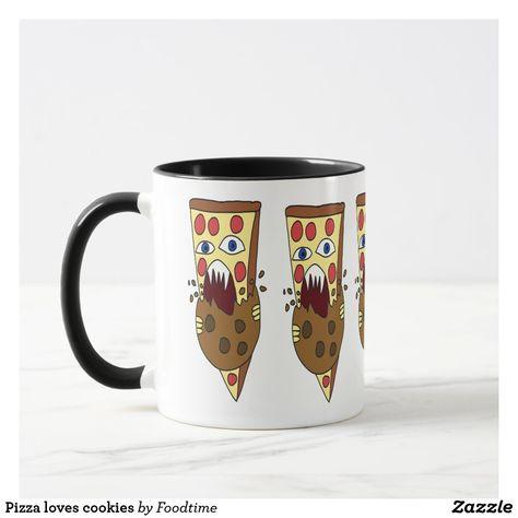 Pizza loves cookies mug