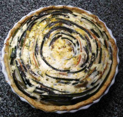 Quiche De Verduras En Espiral Y Atún La Cocina De Serrats Receta Quiche De Verduras Comida étnica Verduras
