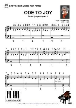 Ode To Joy Easy Sheet Music With Images Easy Sheet Music
