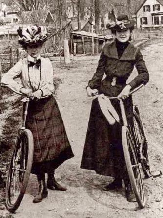 46 Interesting Photos of Women with Their Bicycles From the Century ~ vintage everyday