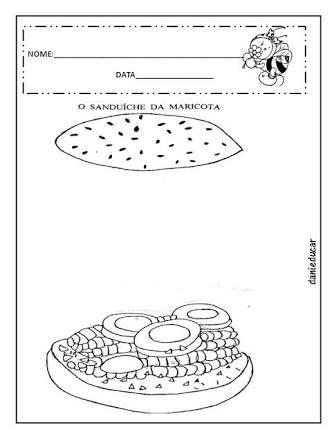 Resultado De Imagem Para Atividades O Sanduiche Da Dona Maricota