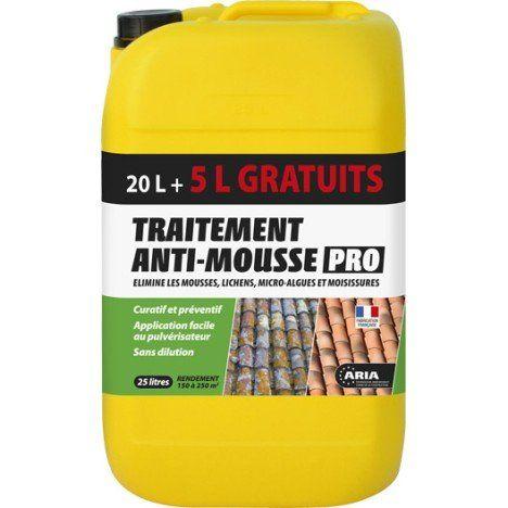 Traitement Anti Mousse Aria 20 5l Gratuit Anti Mousse Toiture Produit Anti Mousse Mousse