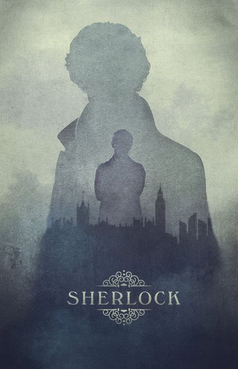 Sherlock poster, London in the Fog- Cumberbatch being mysterious // 11 x 17 Print on Etsy, £11.04