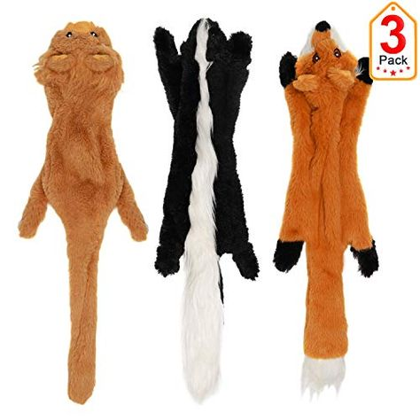 No Stuffing Dog Toys With Squeakers Durable Stuffless Plush
