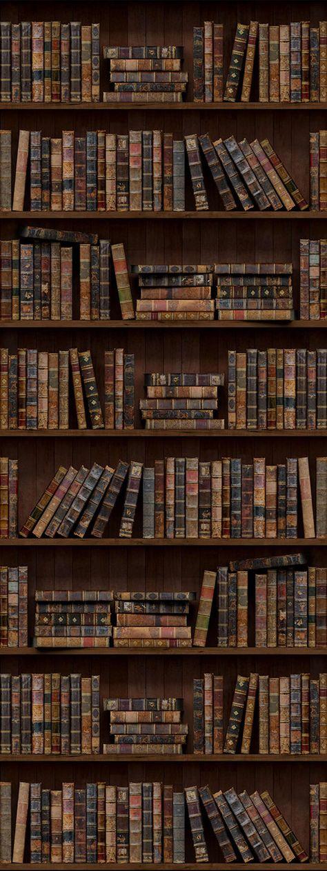 Door Mural Door Wrap Bookcase Door Mural Door Skin | Etsy Brown Aesthetic, Aesthetic Photo, Aesthetic Pictures, Wall Collage, Cute Wallpapers, Aesthetic Wallpapers, Light In The Dark, Book Lovers, Hogwarts