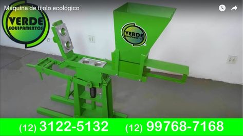 Máquina de tijolo ecológico