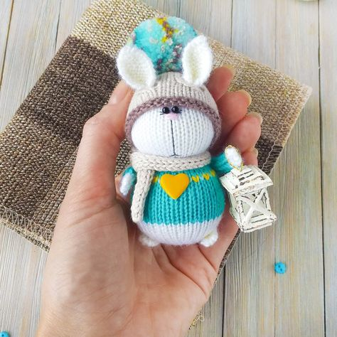 Mini Rabbit 2.5inches - PDF amigurumi crochet pattern | Modèles de ... | 474x474