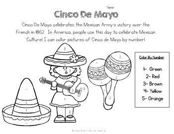 Free Cinco De Mayo Worksheet Color By Number Practice Coloring By Number With Cute Images And A S Cinco De Mayo Cinco De Mayo Activities Cinco De Mayo Colors
