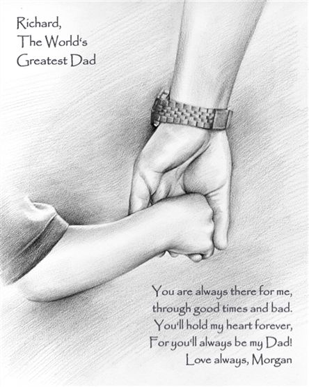 Personalize this beautiful artwork for your Father. It will mean more to him than you'll ever imagine.