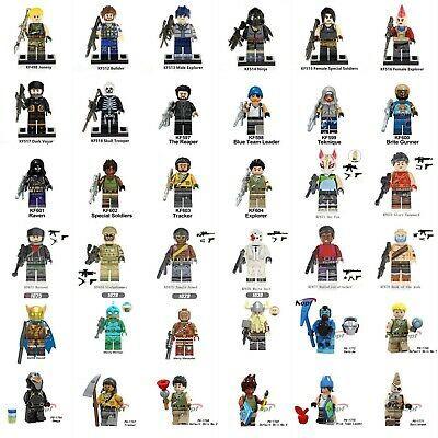 NEW* Custom fit Lego Fortnite Battle Royale Minifigures Sky Fox Explorer  Raven #Fortnite #Game #NowPlaying   Battle royale game, Fortnite, Mini  figures