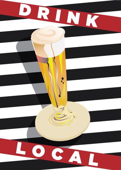 Drink Local Stripes