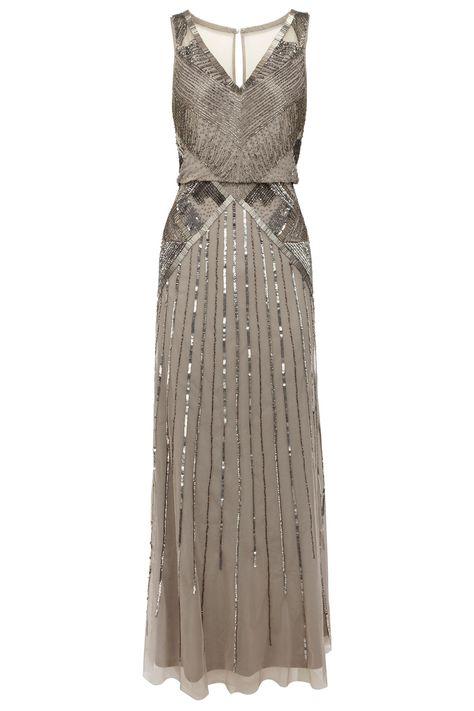 Art Deco Style Coast Evening Dress