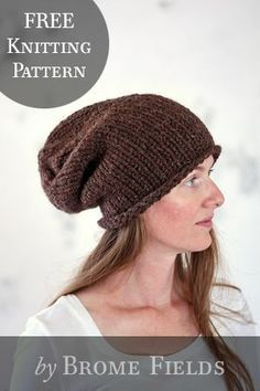 FREE Hat Knitting Pa   Knitting Patterns   Knit hat pattern easy