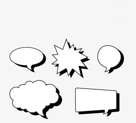 Comic Speech Bubbles Cartoon Dialog Frame Png And Psd Comic Frame Speech Bubble Bubble Quotes