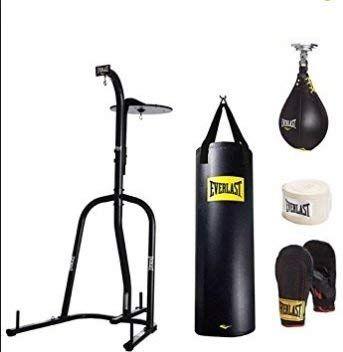 Amazon Com Everlast Dual Station Heavy Bag Stand 100 Lb Speedbag Value Bundle Sports Outdoors Heavy Bag Stand Punching Bag Stand Heavy Punching Bag