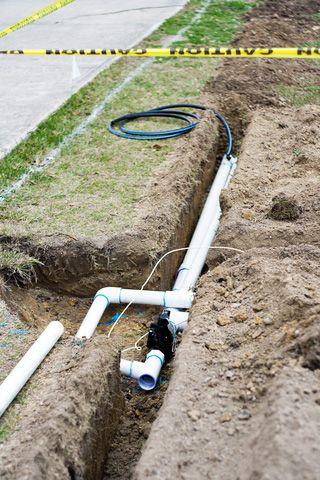 Trenching For Sprinklers Hometips In 2020 Sprinkler System Design Sprinkler System Diy Sprinkler