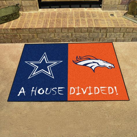 Dallas Cowboys Denver Broncos House Divided All Star Area Rug Floor Mat 34 X 45 Let S Replace Cowboys With With Images House Divided Texas Rangers Dodgers