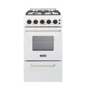 Unique Classic Plus 20 In 2 3 Cu Ft Gas Convection Range Sealed Burners In White Ugp 20h Cc1 W Convection Range Vintage Stoves Compact Kitchen