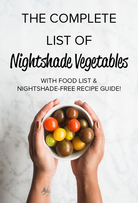 Complete Nightshade Vegetables List (printable list + recipe guide!)