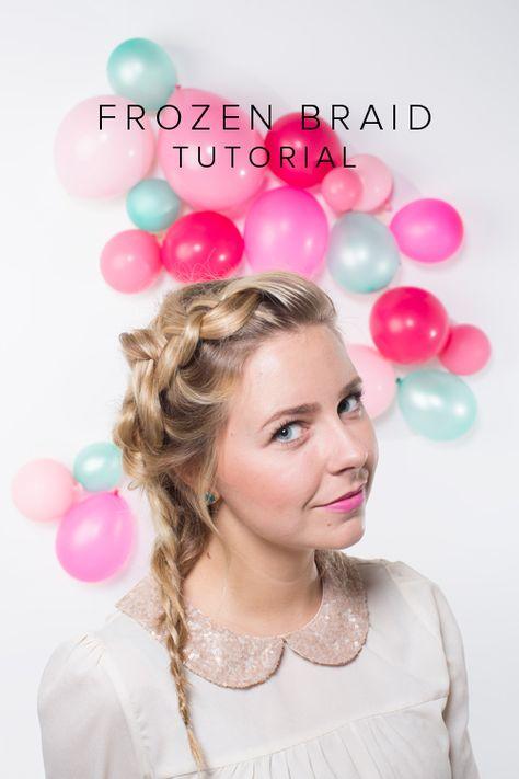 Frozen-inspired braid tutorial