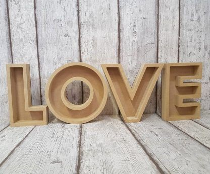 Wooden letters blanks