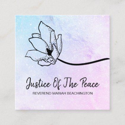 Justice Of The Peace Blue Pink Moon Crater Square Business Card Zazzle Com Square Business Card Pink Moon Makeup Artist Business Cards