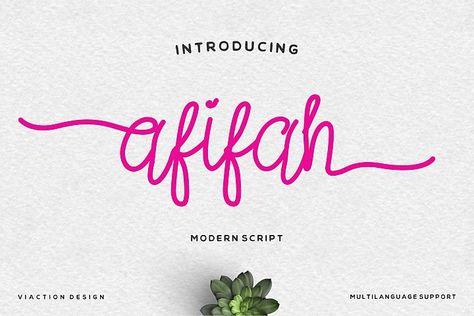 Afifah Script Script Fonts