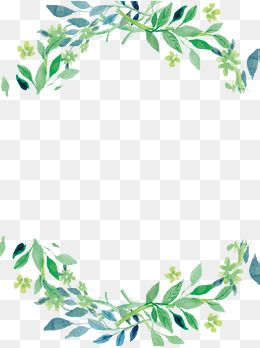 Green Fresh Border Texture Png Free Download In 2020 Flower Png