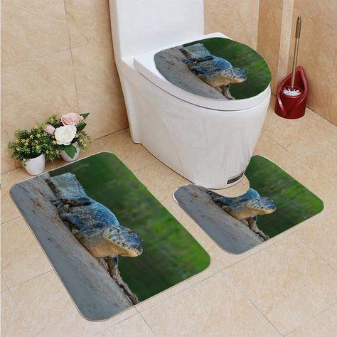 3 Piece Bathroom Rugs Set Bath Rug